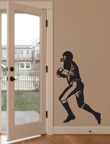 - Large--easy Instant Decoration Wall Sticker Mural Sport American Football Rugby-player