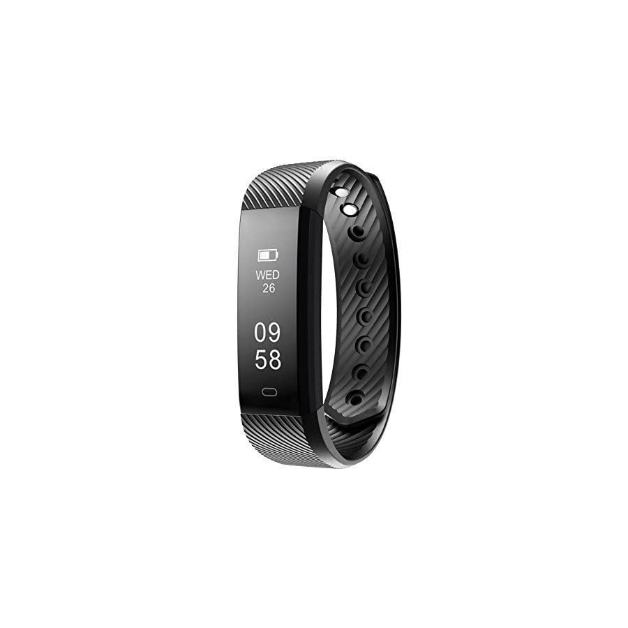 Lintelek Fitness Tracker Watch, Slim IP67 Waterproof Activity Tracker with Step Counter/Calorie Counter/Sleep Monitor, Bluetooth Pedometer Wristband for iphone and Android Smartphone