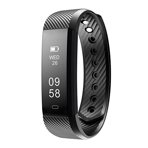Fitness Tracker Watch, LINTELEK Smart Band Step Tracker Calorie Counter Sleep Monitor Touch Screen Activity Health Tracker Wearable Pedometer Smart Bracelet for iPhone Android Smartphone