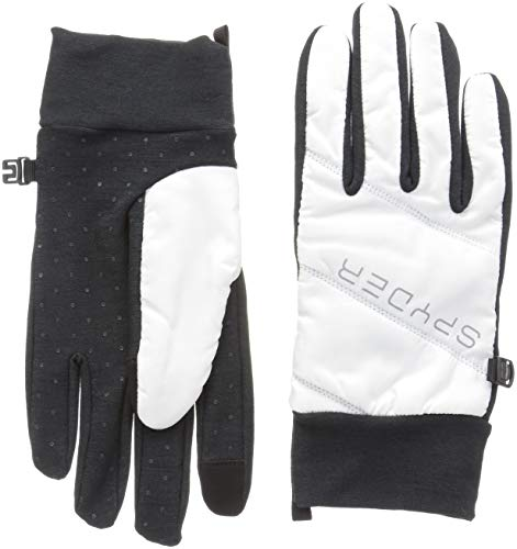 Spyder Women's Solitude Hybrid Glove, White/Black/Black, ()