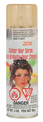 Gold Hair Spray (Rubie's Costume 18023 Co Glitter Hairspray, Gold, One)