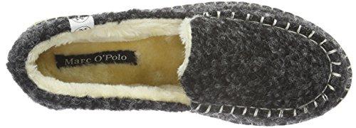 Marc O'Polo Hausschuh - Pantuflas cálidas con forro Mujer Gris - Grau (Dark Grey 930)