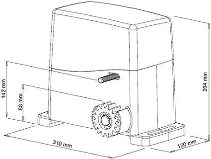 Motorreductor para Puertas Correderas AG Future 230 V Peso Puerta Max 1000 kg VDS: Amazon.es: Bricolaje y herramientas