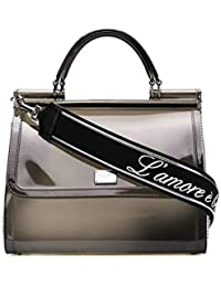 Women's BB6235AU6988E716 Grey Pvc Handbag