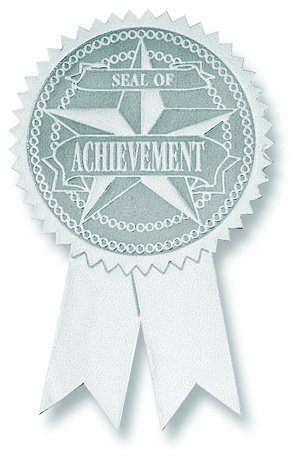 Certificate seals - Achievement with Tails - CT7000S Printed Paper Products Ltd