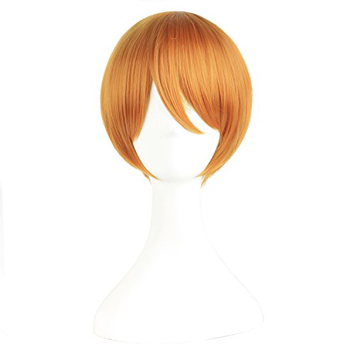 MapofBeauty Cosplay Short Hair Golden Orange product image