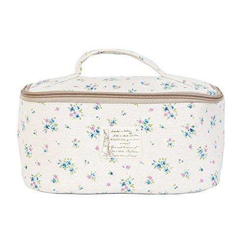 Portable Travel Underwear Linen Bag Organizer Pouch Flower Blue by jnjstella
