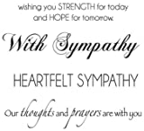 Kaisercraft 3-Inch by 5-Inch Sympathy Words Mini Clear Stamps