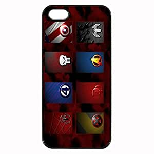Marvel superhero signs Unipue Custom Image Case iphone 4 case , iphone 4S case, Diy Durable Hard Case Cover for iPhone 4 4S , High Quality Plastic Case By Argelis-sky, Black Case New