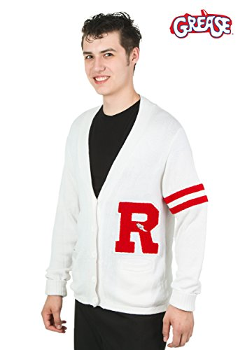 Letter E Fancy Dress Costumes (Fun Costumes Grease Rydell High Men's Sweater Small)