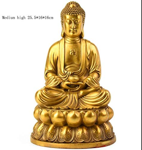 Copper Statue Buddha - NYW Buddha Statue, Pure Copper Sakyamuni Buddha Statue, Sakyamuni Buddha Statue Decoration, Craft Gift