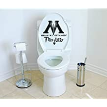Ministry of Magic This Way Harry Potter Toilet Decor Wall Decal Vinyl Sticker W25 10'x10' (Message for Color)