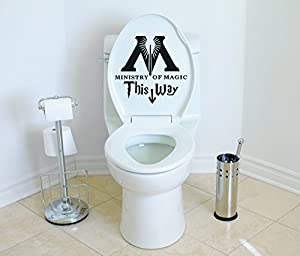 Amazoncom Ministry Of Magic This Way Harry Potter Toilet Decor - Wall decals harry potter