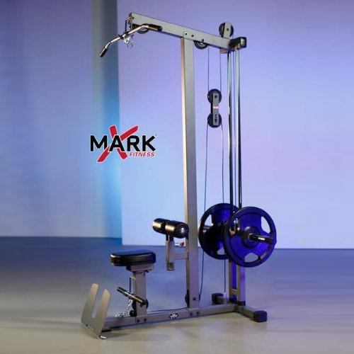 XMark Fitness Heavy Duty Lat Pulldown and Low Row Cable Machine XM 7618 Exclusive Workout Bundle with BONUS Bluetooth Headphones
