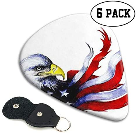 [해외]Xzyauza American Bald White Eagle Flag 6 Pack Celluloid Guitar Picks Mandolinand Bass 0.46mm 0.71mm 0.96mm Optional / Xzyauza American Bald White Eagle Flag 6 Pack Celluloid Guitar Picks Mandolin,and Bass 0.46mm, 0.71mm, 0.96mm Opt...