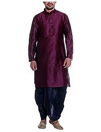 Tag 7 Men's Threadsart Silk Dhoti Kurta