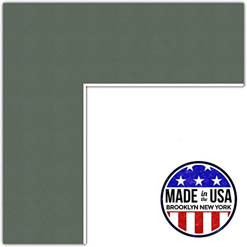 23x30 Olive / Forest Green Custom Mat for Picture Frame with 19x26 opening size (Mat Only, Frame NOT Included)