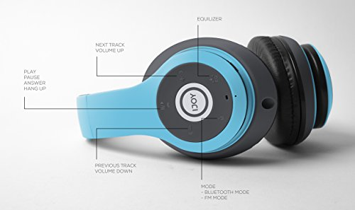 iJoy Matte Rechargeable Wireless Bluetooth Foldable Over Ear Headphones with Mic, Avatar by iJoy (Image #5)