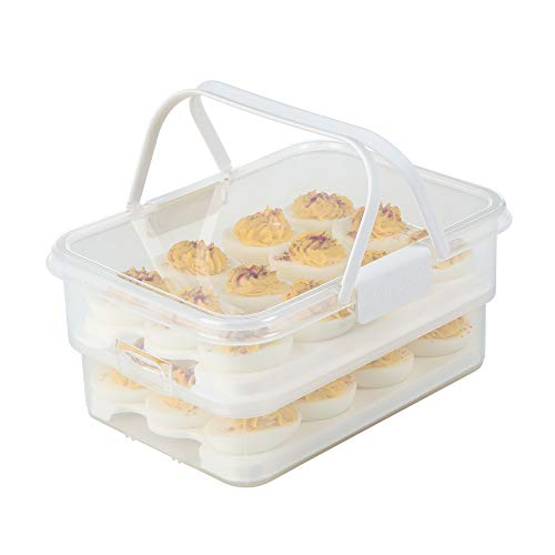 SnapLock by Progressive SNL-1013W Collapsible Egg Carrier, One Size, White ()