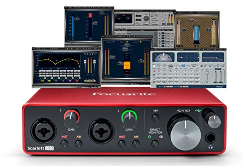 Focusrite Scarlett 2i2 (3rd Gen) USB Audio Interface plus Waves Musicians 2 and iZotope Mobius Filter Bundle ()