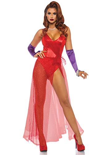 Leg Avenue Womens Bombshell Babe Halloween Costume, Red,