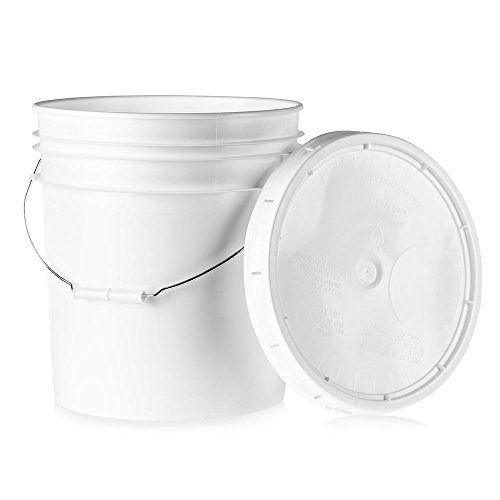 , L40GTS 5 gallon Buckets with Lids - 1 pack, White ()