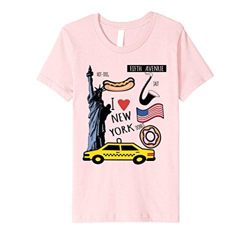 Kids Top Spots I Heart New York Premium T-Shirt 12 Pink Spot Youth T-shirt