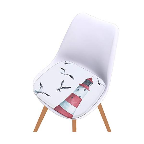 WDOIT - Cuscino per Sedia, particolarmente Imbottito, per mobili in Rattan, da Giardino, Stile 4, 40 * 40cm 3 spesavip