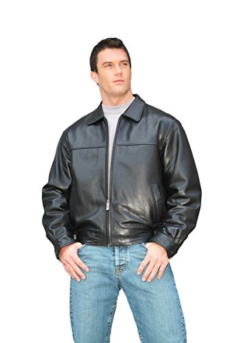 REED Men's New Zealand Lambskin Leather Jacket Small Black
