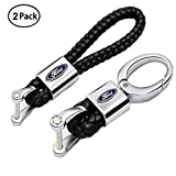 VILLSION-2Pack-Genuine-Leather-Car-Logo-Keychain-Key-Chain-Accessories-Keyring