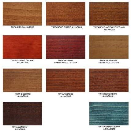 Tinte al agua para madera para interiores de 1 a 5 litros, 1 L ...