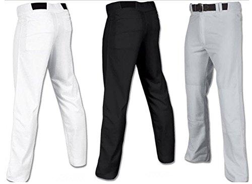 Joe's USA Open Bottom Relaxed Fit Baseball Pants - (Grey Youth (Professional Baseball Pants)