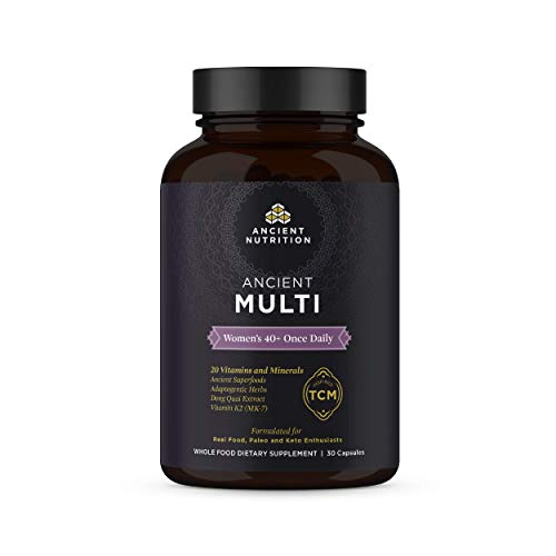 (Ancient Nutrition, Ancient Multi Women's 40+ Once Daily - 20 Vitamins & Minerals, Adaptogenic Herbs, Paleo & Keto Friendly, 30 Capsules)
