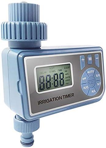 Hokaime intelligente automatische elektronische Digital-Wasser-Timer Bewässerungssteuerungssystem mit LCD-Anzeige Startseite Bewässerung Timer,Blau