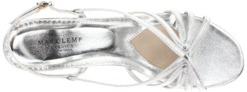 Walking Cradles Mark LEMP by Women's Leash Dress Sandal Silver p38wfk