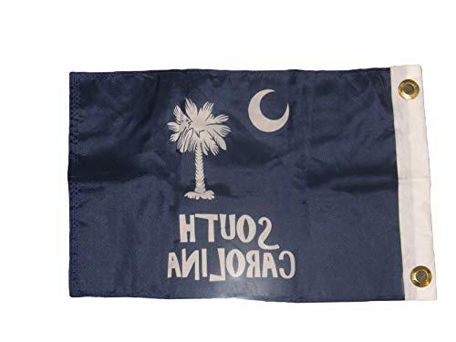 Mikash 12x18 12x18 State of South Carolina SC Letters Blue Boat Flag Banner | Model FLG - 2058
