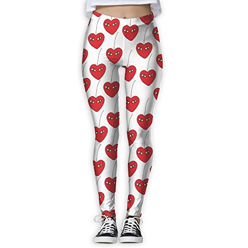 Women's Cherry Love Eye Print Sports Gym Yoga Leggings Pants Cucumbers Eye Love Cucumbers