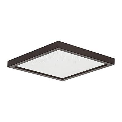 "7"" LED Surface Slim Square Down Light 120V 18W 3000K Dimmable Bronze"