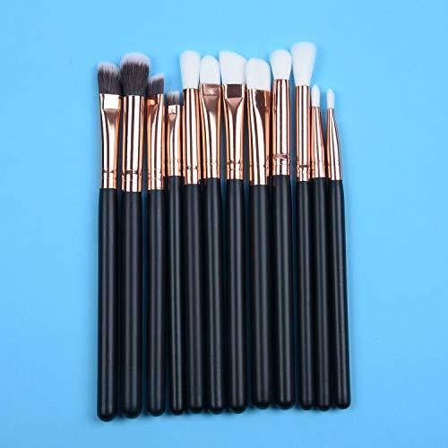 (Pro 12pcs Set Make-up Brushes Cosmetic Foundation Eye-shadow Eyeliner Lip Brush (Color -)