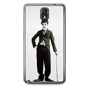 Charlie Chaplin Samsung Note 3 Transparent Edge Case - Heroes
