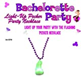 Gift Set Of Light Up Pecker Party Necklace And Fetish Fantasy Series Furry Love Cuffs - Black