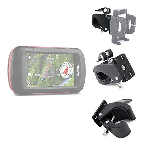 DURAGADGET Exclusive Smartphone Holder with Universal Flex Clamp (Bike Handlebars / Golf Buggies) for the Garmin Montana 610, Montana 680 & Montana 680T (Geo, Navigation, GLONASS, 8MP, IPX7, - 680 Smartphone