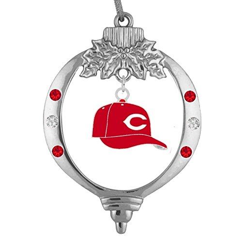 Crystal Cincinnati Reds Baseball - Final Touch Gifts Cincinnati Reds Baseball Cap Ornament