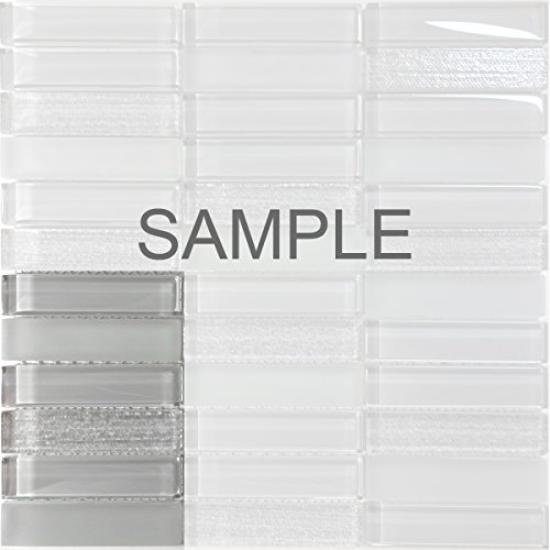 Modket TDH231MO-S Sample - Modern Gray Crystal Glass Blend Texture and Matted Glass Mosaic Tile Backsplash