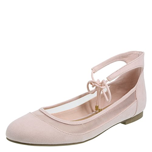 Christian Siriano for Payless Women's Light Pink Blush Annalee Ankle Tie Flat 8 Regular Ankle Tie Flats