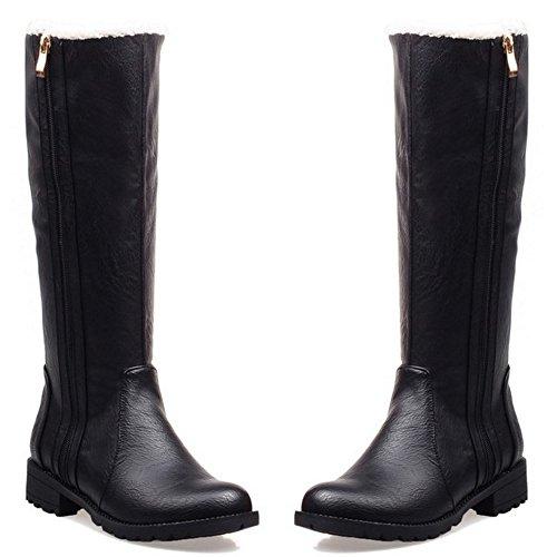COOLCEPT Women Boots Zipper Warm Lined 87 Black S8qo8hGkp