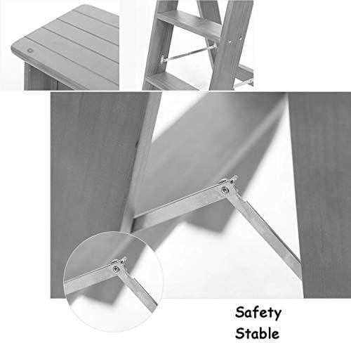 NIHAOA Chaise Pliante avec Escabeau Tabouret / 3-Roll Ladder, Tabouret Heavy Duty 150 kg, n ° 1 (Color : -)