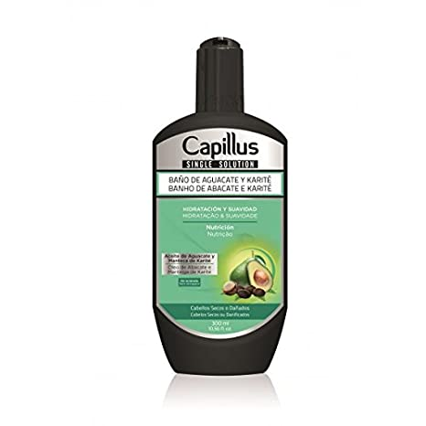 Baño de Aguacate y Karité Pelo Seco o Dañado - SINGLE SOLUTION CAPILLUS 300ml: Amazon.es: Salud y cuidado personal