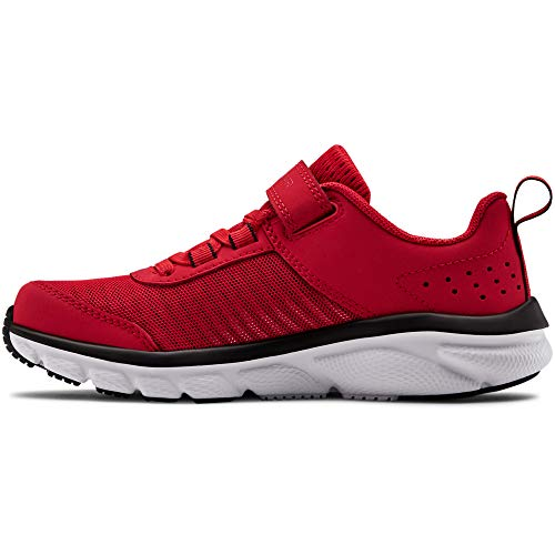 Under Armour Kids' Pre School Assert 8 Alternate Closure Sneaker, Red (600)/White, ()