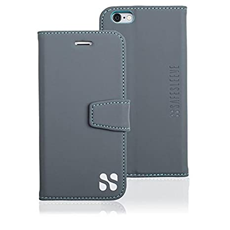 low priced dc958 11c4e SafeSleeve iPhone 5c Cell Phone Radiation Blocker and RFID Wallet Case  (Grey)